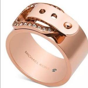 Michael Kors Rose Gold Buckle Ring